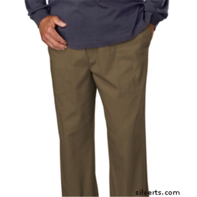 Silverts 507910503 Full Elastic Waist Pull On Pants For Men - Cotton Rugger Pants - 3Xl, Beige