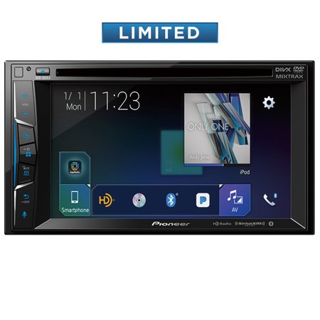 "Pioneer AVH-501EX Multimedia DVD Receiver with 6.2"""" WVGA Display, Built-in Bluetooth, SiriusXM-Ready and AppRadio Mode+ and Remote Control Included"