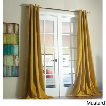 Lambrequin Tao Cotton Velvet 96 Inch Curtain Panel