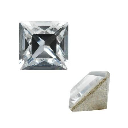 - Swarovski Crystal, #4428 Square Fancy Stone 2mm, 10 Pieces, Crystal F