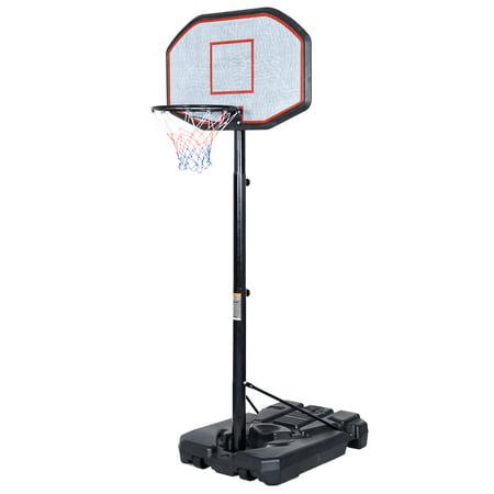 Costway Indoor Outdoor 10' Adjustable Height Portable Basketball Hoop System Backboard (Cheap Basketball Hoops)