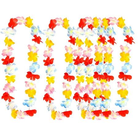 Play Kreative Rainbow Tropical Hawaiian Luau Flower Lei Party - Rainbow Flower