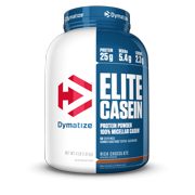 Dymatize Elite 100% Casein Protein Powder, Rich Chocolate, 25g Protein, 4lb, 64oz