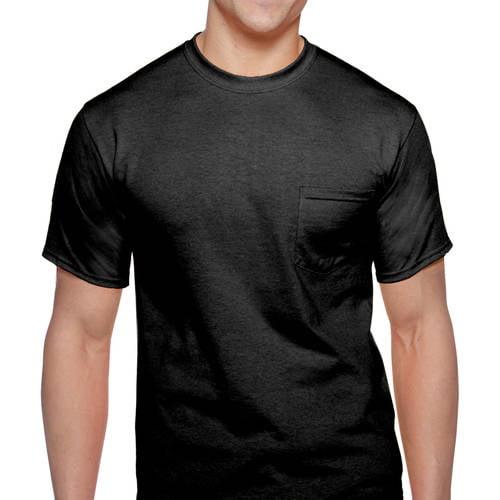 2 Pack Gray Size 2XL Gildan Men/'s DryBlend Workwear T-Shirts with Pocket