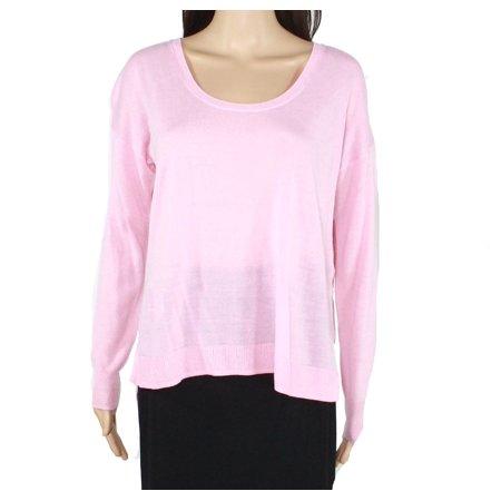 Women's Large High Low Scoop Neck Wool Sweater L