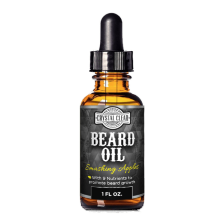 CCS Beard Oil Growth for Men, Leave-In Conditioner Softener for Dry and Sensitive Facial Hair, Smashing Apples Scented 1 fl oz - Thor Facial Hair