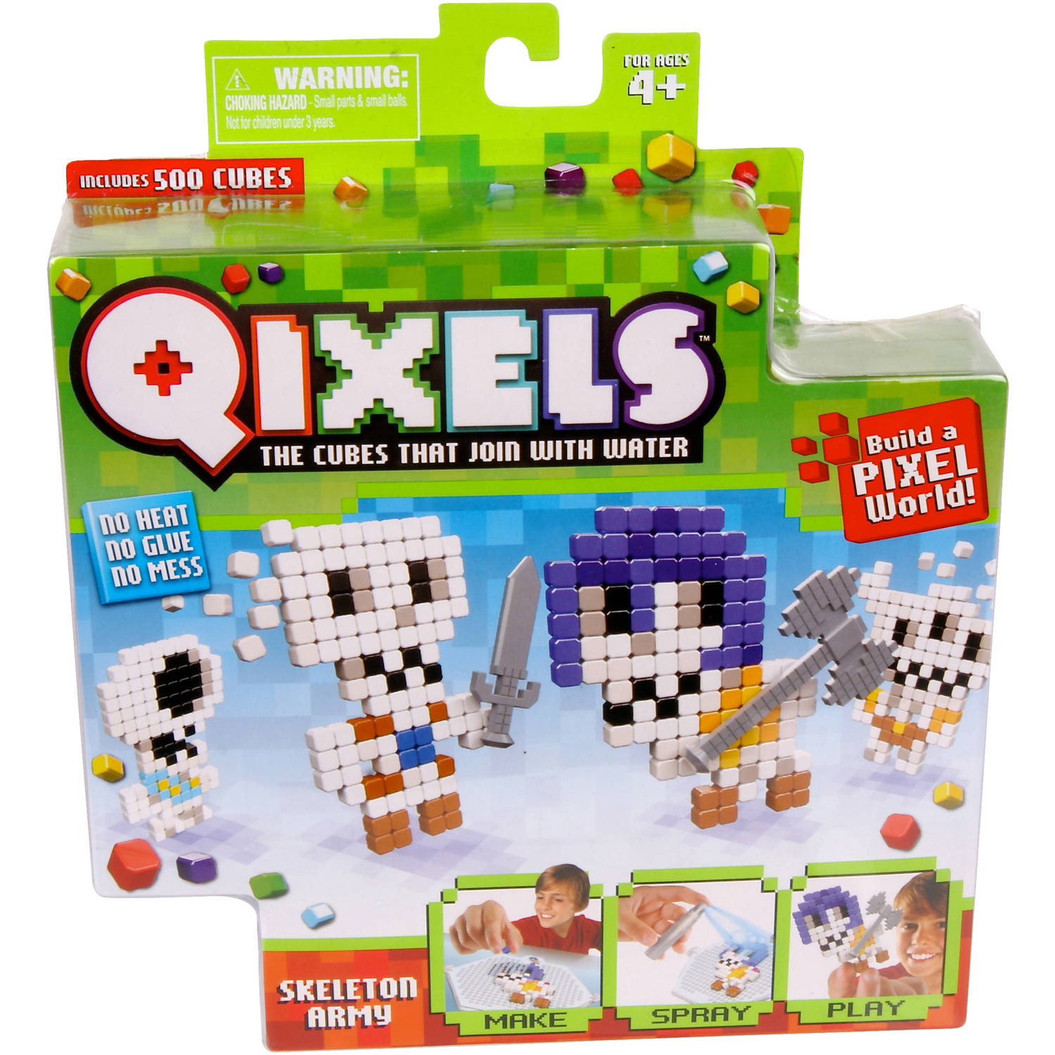 Moose Toys Qixels Season 1 Theme Refill Pack, Skeleton Army