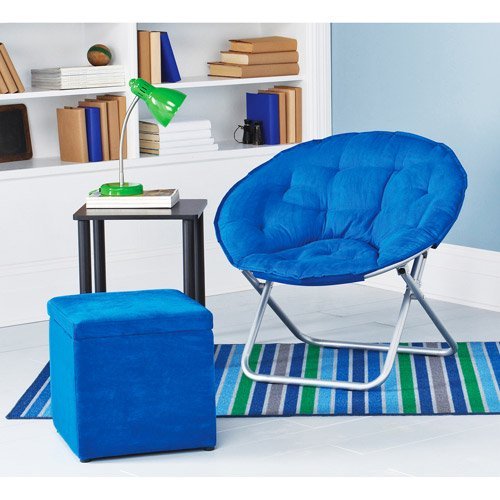 mainstays saucer chair blue morpho walmart com