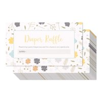 Pack of 60 Baby Diaper Raffle Tickets - Fun Game for Baby Showers and Gender Reveal Parties, 2 x 3.5 inches