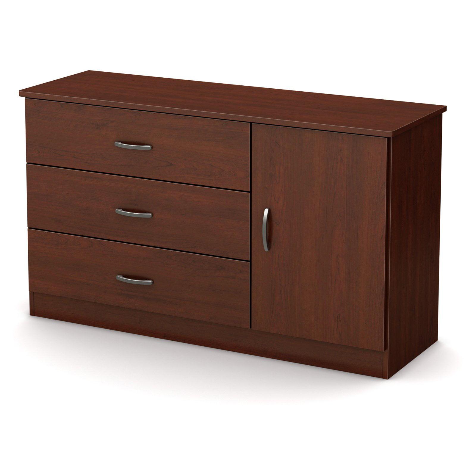 South Shore Smart Basics 3-Drawer Dresser with Door, Multiple Finishes