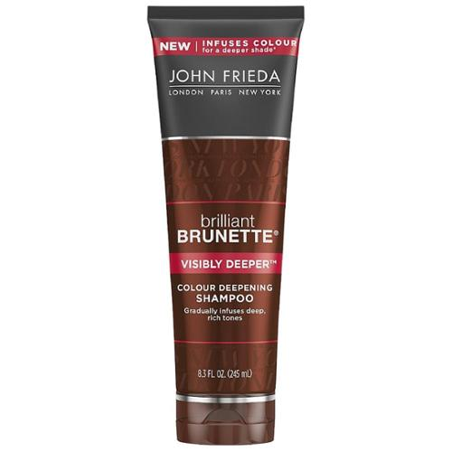 John Frieda Brilliant Brunette Colour Deepening Shampoo, Visibly Deeper 8.30 oz (Pack of 3)