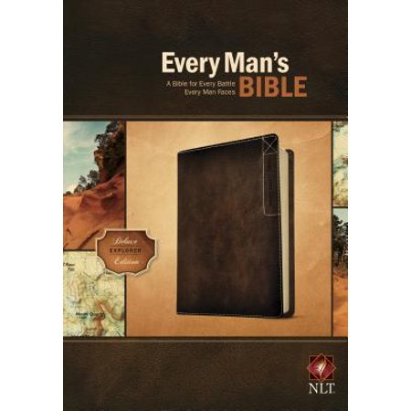 Every Man's Bible NLT, Deluxe Explorer Edition (LeatherLike, Brown)