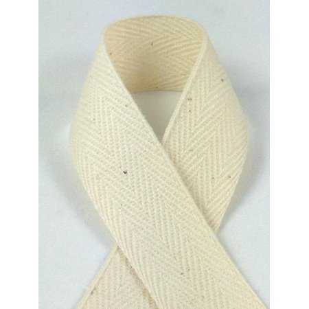 ZipperStop® Schiff Ribbons 922-1 100-Yard Cotton Twill Tape Ribbon, 1-Inch, Natural