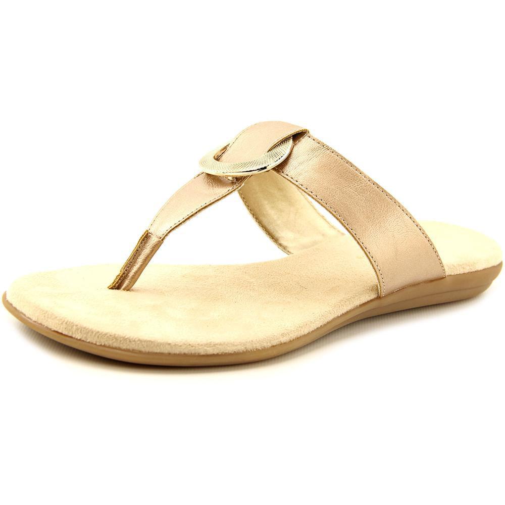 Aerosoles Supper Chlub Women Open Toe Synthetic Silver Thong Sandal by Aerosoles
