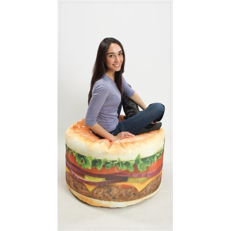 Magnificent Adult Hamburger Beanbag Chair Frankydiablos Diy Chair Ideas Frankydiabloscom