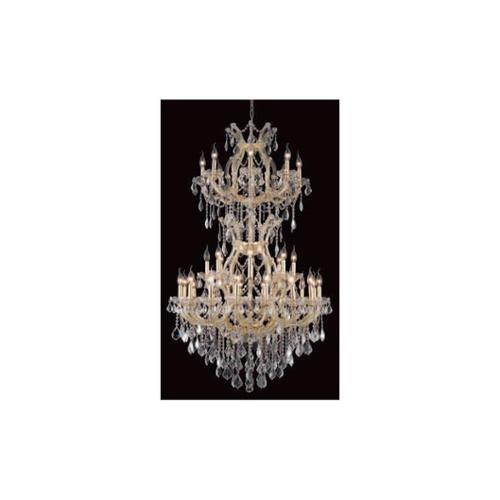 Maria Theresa Clear Crystal Chandelier w 34 Lights in Gold (Royal Cut)