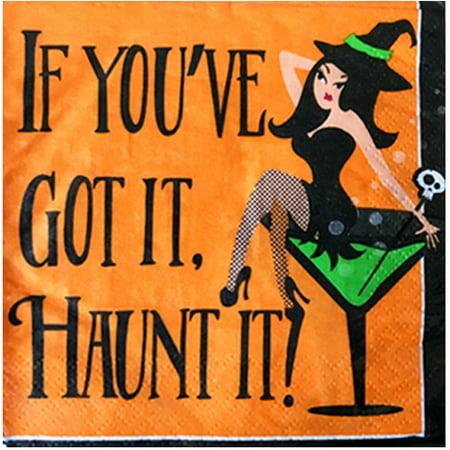 Halloween 'Got It, Haunt It' Small Napkins (28ct)](Spirit Halloween Haunted Lamp)