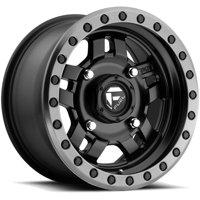 "Fuel D557 Anza UTV 14x7 4x110 +13mm Black/Gunmetal Wheel Rim 14"" Inch"