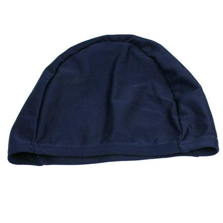 Dark Blue Fiber Elastic Swimming Swim Hat 40cm (Elastic Girth)