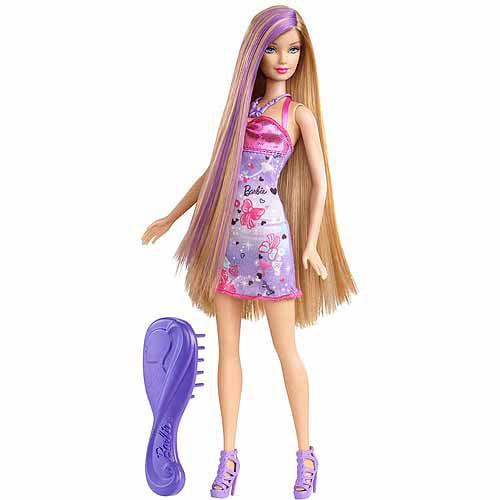Barbie Hairtastic Doll, Purple