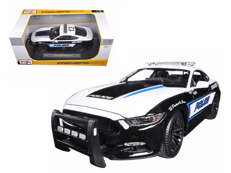 2015 Ford Mustang GT 5.0 Police 1 18 Diecast Model Car by Maisto by Diecast Dropshipper
