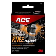 ACE Brand Compression Knee Support, Small/Medium, Black