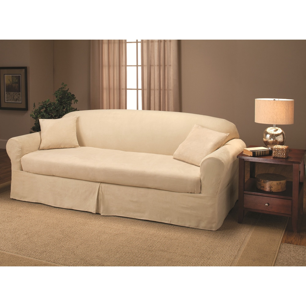 Sanctuary  Suede 2-piece Sofa Slipcover