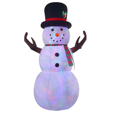 8ft Airblown Inflatable Large Snowman Yard Inflatable Indoor Outdoor Inflatable with LED Lights for Christmas Decorations, Snowmen Decorations, Lawn, Patio, Home, Family (Christmas Yard Decorations For Sale)