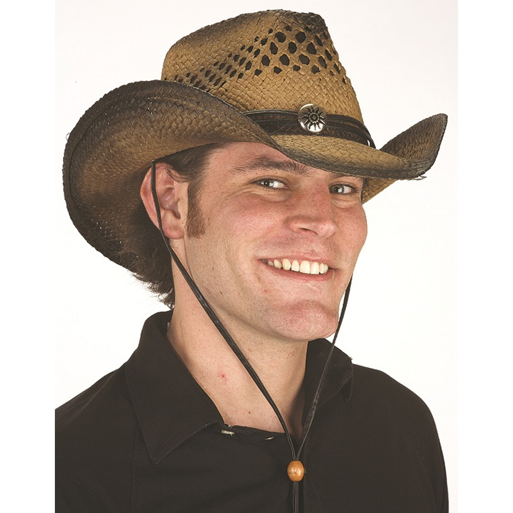 Cowboy Straw Vented Wild West Western Hat Kenny Chesney Adult Costume Accessory