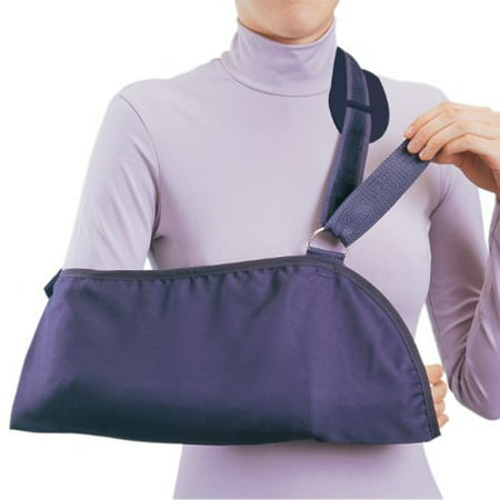 Procare Arm Sling  Hook and Loop Closure Blue Cotton / Polyester X-Large