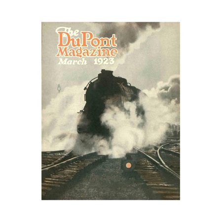 Train, Front Cover of the 'Dupont Magazine', March 1923 Print Wall Art By American School