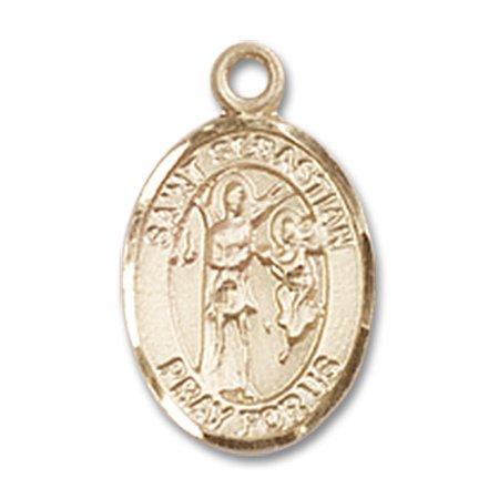 St sebastian medal pendant in 14 kt gold filled by bliss mfg st st sebastian medal pendant in 14 kt gold filled by bliss mfg st aloadofball Images