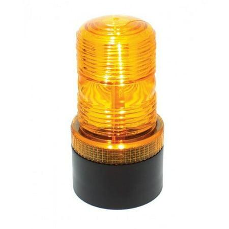 Amber LED Mini Strobe Beacon Safety Flasher Warning Light / Magnetic Base Mount