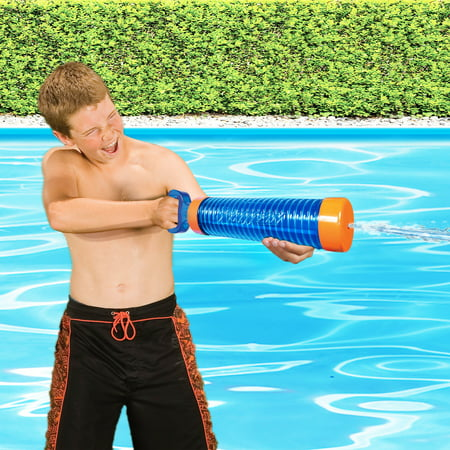 Banzai 12'' Aqua Shot High Velocity Water Blaster Gun - Black Water Gun