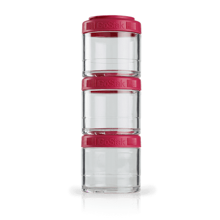 BlenderBottle GoStak Snacking Mini Containers 100cc 3pk Pink ()