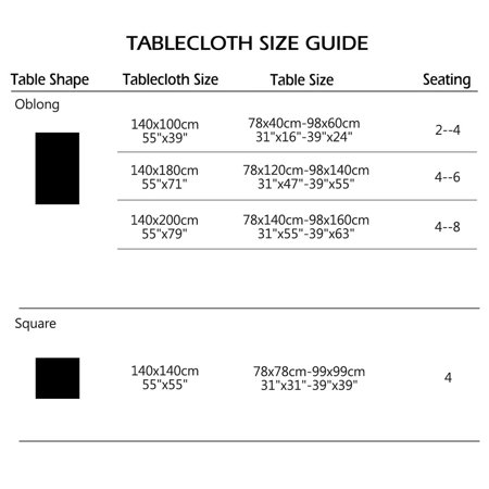"""Tablecloth Cotton Oil Stain Resistant Wedding Camping Table Cloth 55"""" x 79"""", #4 - image 1 of 7"""