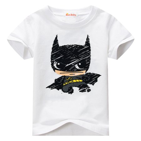 T-shirt Kids-Toddler T-shirt for Batman Fans Superhero Graphic Short Sleeve Cotton Tee by Sun - Baby Superheroes