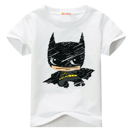 T-shirt Kids-Toddler T-shirt for Batman Fans Superhero Graphic Short Sleeve Cotton Tee by Sun Baby](Baby Super Hero)