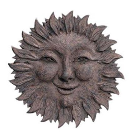 Craft-Tex 86001WI Weather Resistant Sun Face Plaque - Wrought Iron