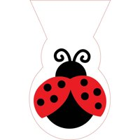 Cello Bags Ladybug Fancy,Pack of 12 EA