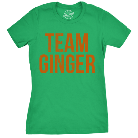 Womens Team Ginger Tshirt Funny Red Head St Patricks Day Irish Tee For Ladies