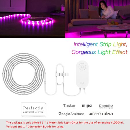 Yeelight WIFI Connected RGB Intelligent Strip Light (ONLY for the Use of extending YLDD04YL Version) 1 Meters AC100-240V 2.1W Supported Smart Phone App Control/ Voice Control/ Setting Modes Selecting/ - image 6 de 7