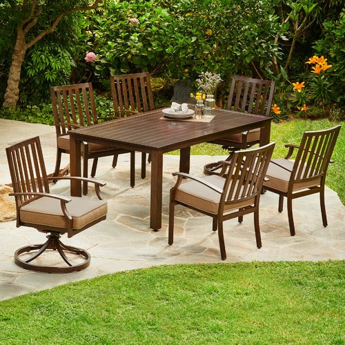 Darby Home Co Delma 7 Piece Dining Set with Cushion