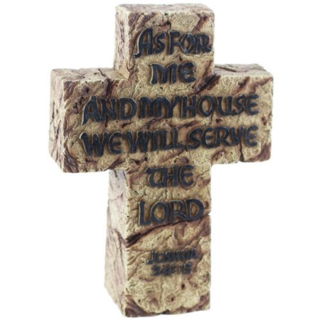 De Leon Collections Serve our Lord Cross Sculpture Wall Decor