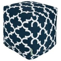 Majestic Home Goods Trellis Indoor/Outdoor Ottoman Pouf Cube