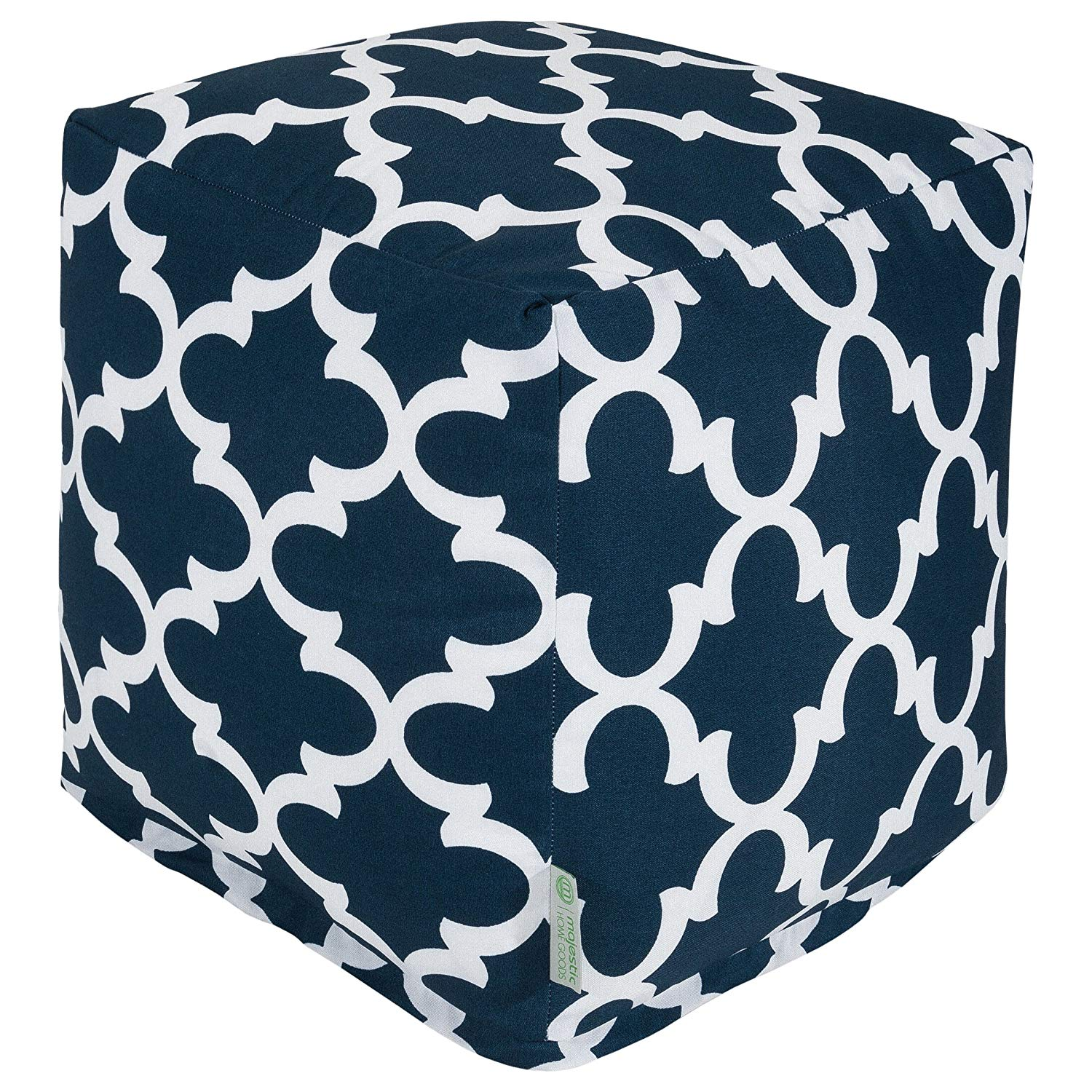 Majestic Home Goods Trellis Indoor/Outdoor Ottoman Pouf Cube