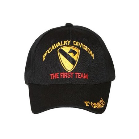 adb04c3113ae6 Military 1st Cavalry Division The First Team Hook and Loop Closure Hat -  Walmart.com