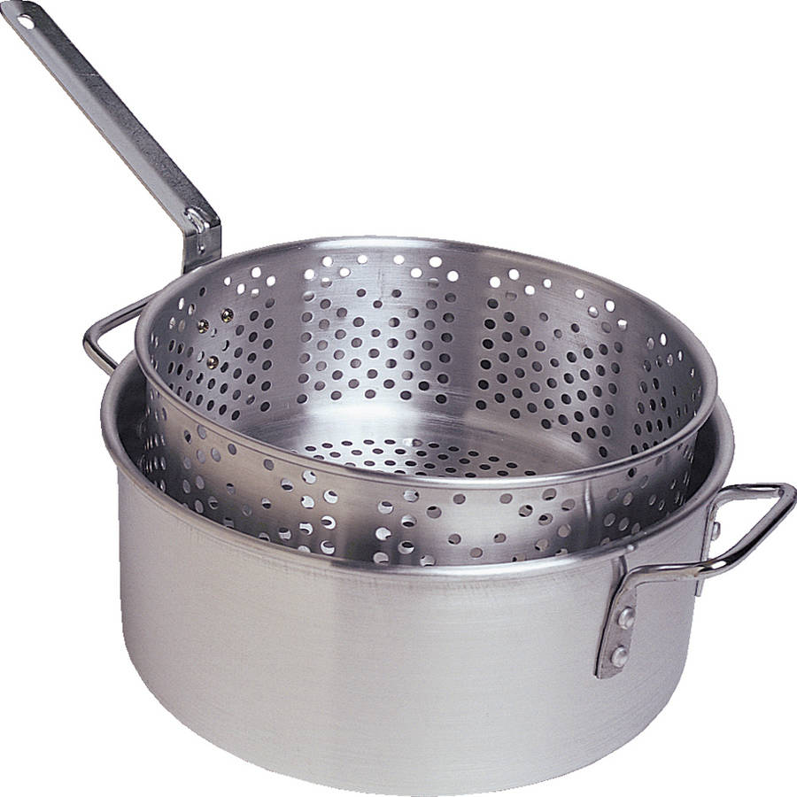 Camp Chef 10.5 qt 2-Piece Aluminum Fry and Steam Pot Set by Camp Chef