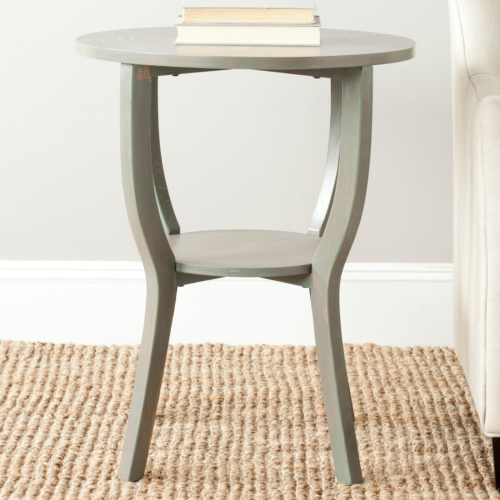 - Safavieh Rhodes Round Pedestal Accent Table - Walmart.com