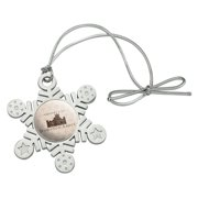Downton Abbey Property Of Metal Snowflake Christmas Tree Holiday Ornament